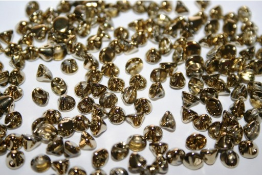 Button Beads Crystal Amber 8mm - 20pz