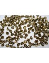 Perline Button Bead Crystal Amber 4mm - 50pz