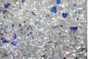 Perline Biconi di Boemia Crystal AB 6mm - 75pz