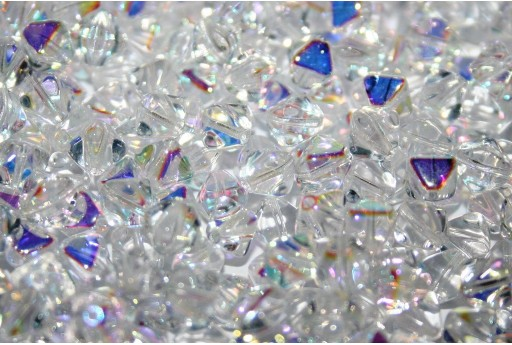Perline Biconi di Boemia Crystal AB 6mm - 75pz