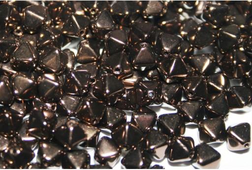 Perline Biconi di Boemia Jet Bronze 6mm - 75pz