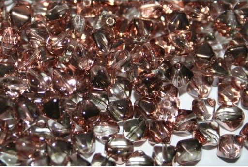 Czech Pressed Bicones Crystal Capri Gold 6mm - 75pz