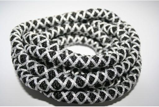 Climbing Cord Nero-Argento 10mm - 1mt