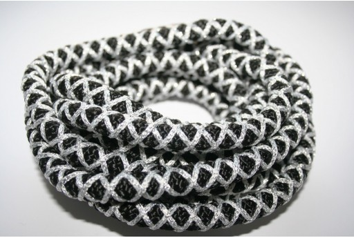 Climbing Cord Black/Silver 10mm - 1mt