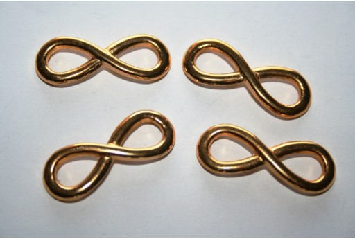 Gold Plated Infinity Symbol Connectors 30x12mm - 2pcs