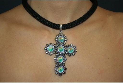 Swarovski Crystal AB Cross Necklace Kit