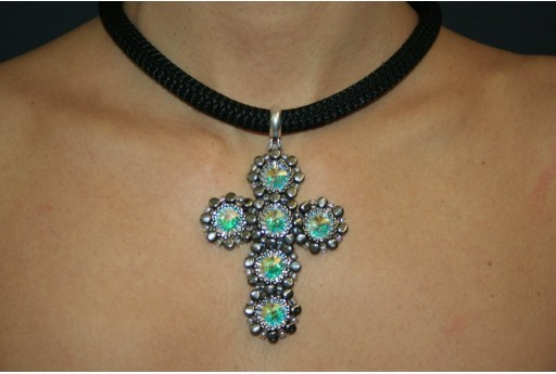 Swarovski Crystal AB Cross Pendant Kit