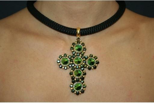 Swarovski Scarabaeus Green Cross Necklace Kit