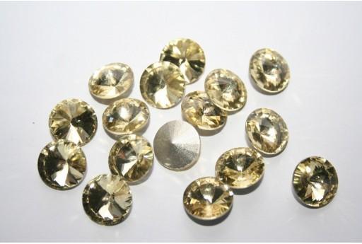 Cabochon Tondo Cristallo Giallo Chiaro 12mm - 4pz
