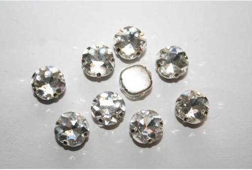 Perline Strass da Cucire Crystal 10x10mm - 2pz