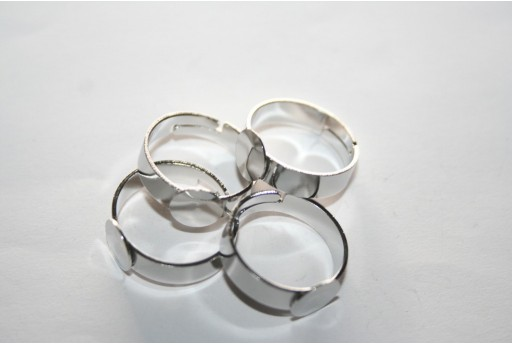 Steel Flat Base Ring 8mm - 1pcs MIN234