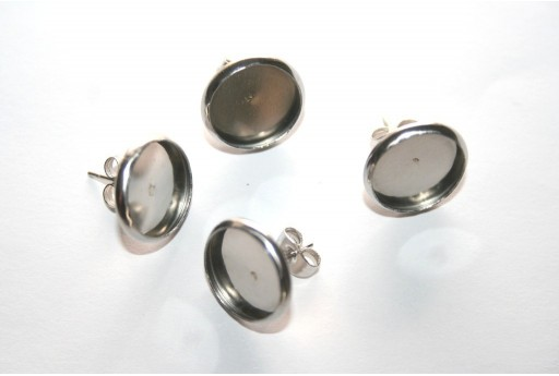 Steel Ear Leverbacks 12mm - 2pcs