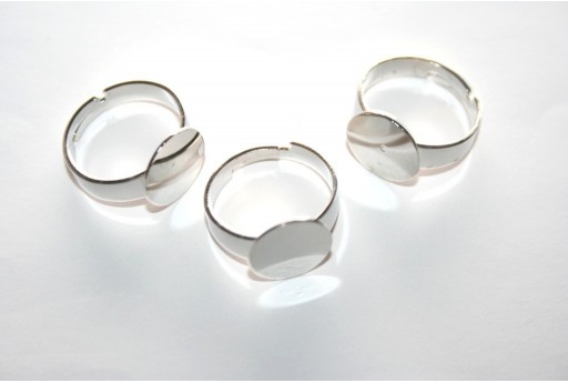 Flat Base Adjustable Ring 12mm - 4pcs