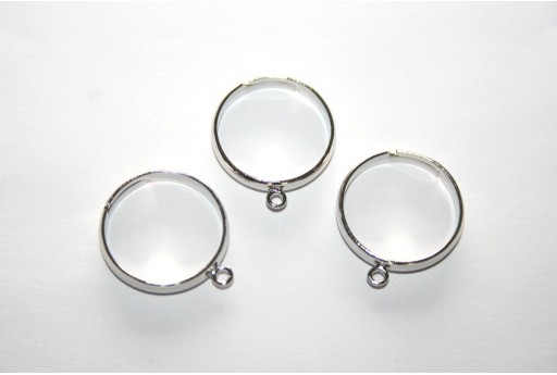 Adjustable Ring with Loop 16mm - 4pcs