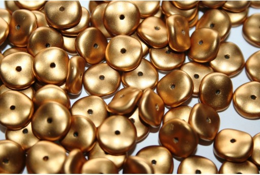 Perline Wavelet Metallic Brass 10mm - 15pz