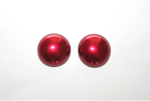 Cabochon Imitation Pearl Red 14mm - 5pz