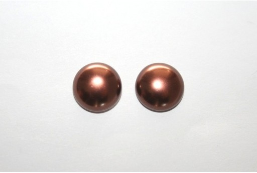 Cabochon Imitation Pearl Brown 12mm - 5pz