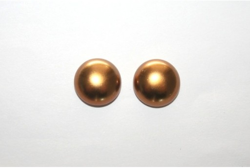 Cabochon Imitation Pearl Bronze 12mm - 5pz