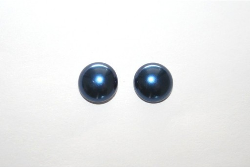 Cabochon Imitation Pearl Blue 10mm - 5pz
