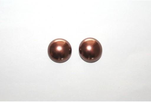 Cabochon Imitation Pearl Brown 10mm - 5pz