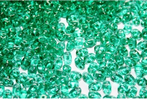 Perline Miniduo Emerald 4x2,5mm - 10gr