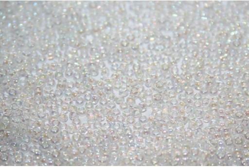 Perline Miyuki White Lined Crystal AB 15/0 - 10gr