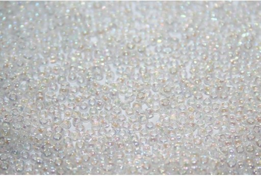 Miyuki Seed Beads White Lined Crystal AB 15/0 - 10gr