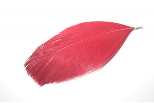 Red Feather with End Red 75mm - 4pcs