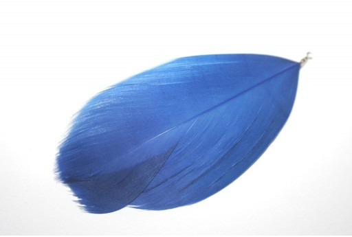 Blue Feather with End Blue 75mm - 4pcs