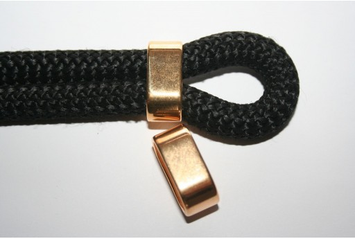 Climbing Rope Jewelry Tube Gold 24x10mm -1pc
