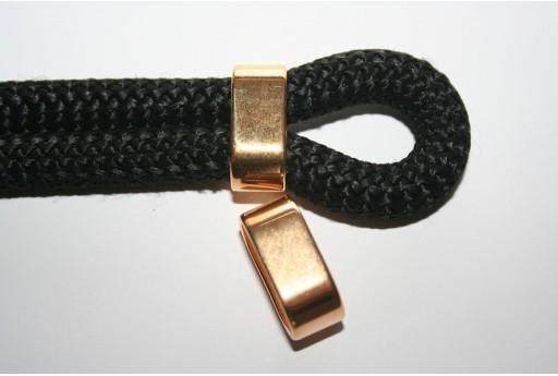 Climbing Rope Jewelry Tubo 2 Corde Oro 24x10mm - 1pz