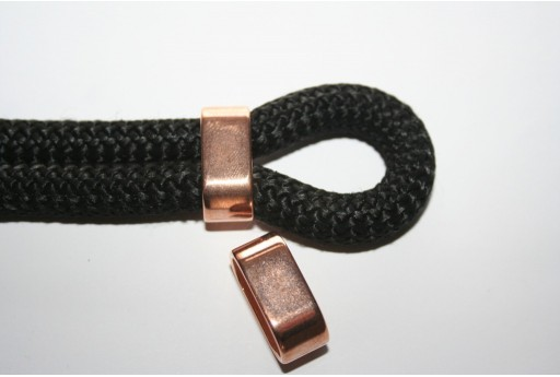 Climbing Rope Jewelry Tubo 2 Corde Oro Rosa 24x10mm - 1pz
