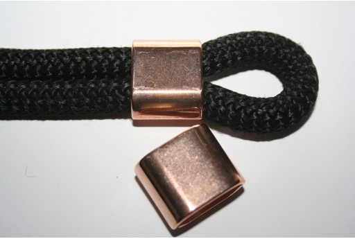 Climbing Rope Jewelry Tube Rose Gold 24x20mm -1pc