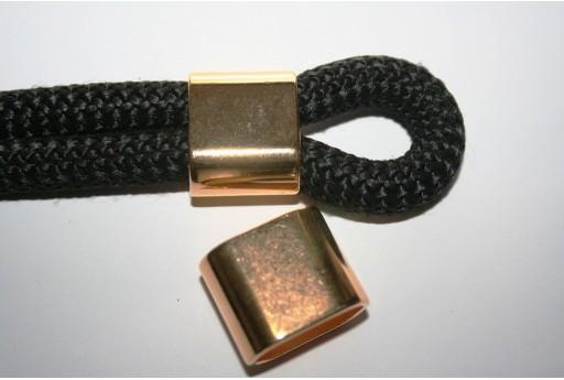 Climbing Rope Jewelry Tube Gold 24x20mm -1pc