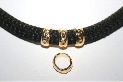 Climbing Rope Jewelry Rondella Oro 5x13mm - 2pz