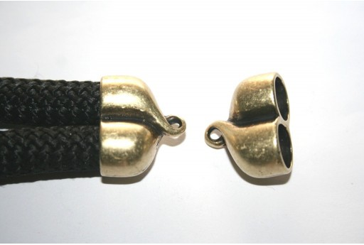 Climbing 2-Strand Bronze Cord End Cap 25X20mm - 1pc