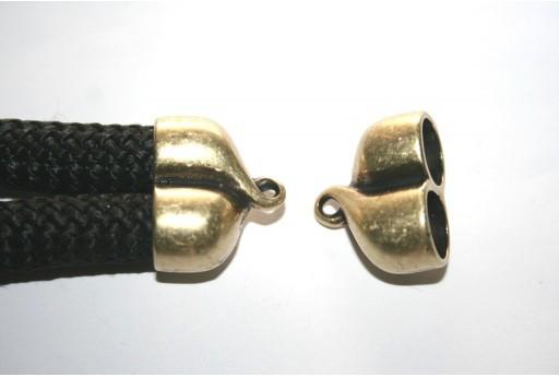 Climbing 2-Strand Bronze Cord End Cap 25X20mm - 1pc