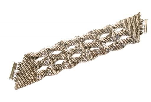Miyuki Delica Steel Braided Peyote Bracelet Kit