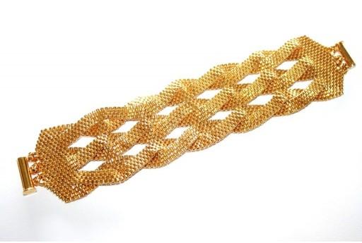 Kit Bracciale Intrecciato Delica Miyuki Gold 24K Plated