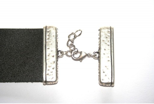 Flat Rectangular Ends with Lobster Clasp 45x11mm - 1pc