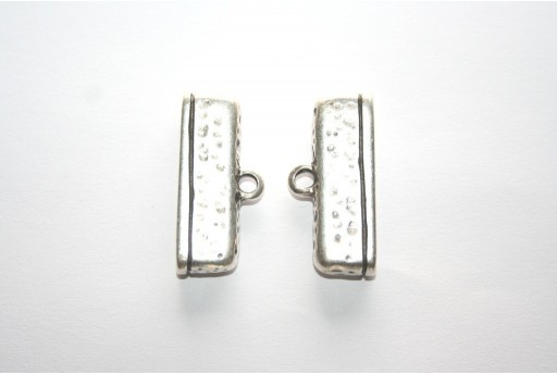 Silver Flat Magnetic Clasp 34x17mm - 1pc