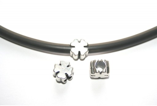 Componente Metallo Quadrifoglio 10x7mm - 2pz