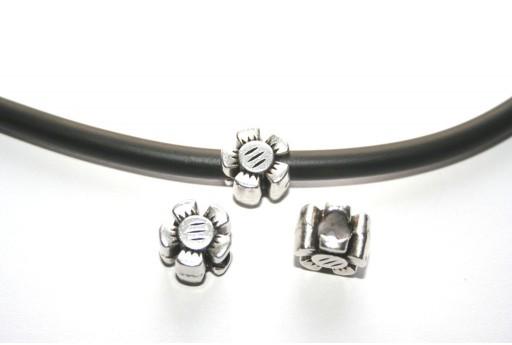 Componente Metallo Fiore 12x8mm - 2pz