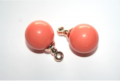 Pendant Acrylic Beads Salmon 20mm - 1pz