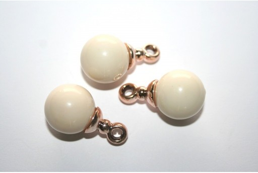 Charms in Acrilico Beige Sfera 16mm - 2pz.
