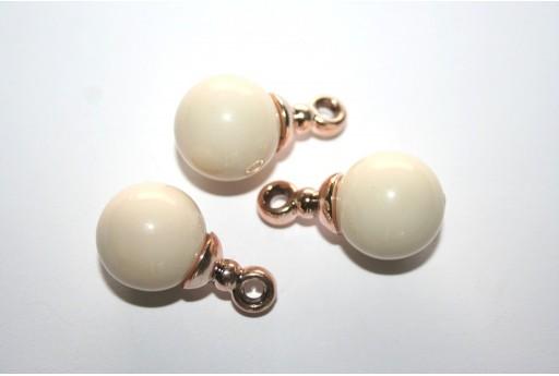 Pendant Acrylic Beads Beige 16mm - 2pz