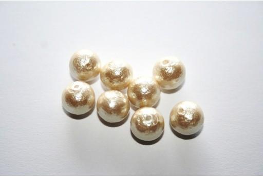 Cotton Pearls Miyuki Cream 8mm - 10pz