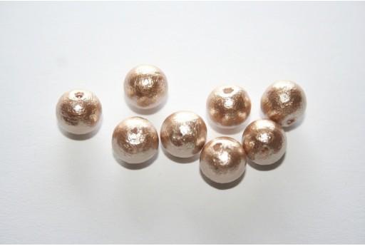 Cotton Pearls Miyuki Beige 8mm - 10pz