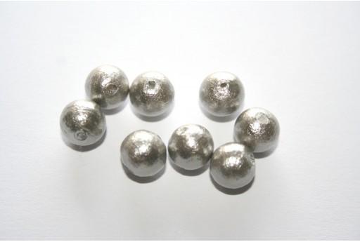 Cotton Pearls Miyuki Grey 8mm - 10pz