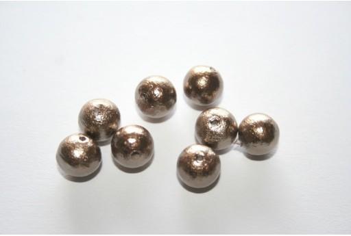 Cotton Pearls Miyuki Bronze 8mm - 10pz